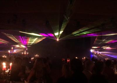 Lasershow – Firmenjubiläum vom Autohaus Scholz in der Messehalle Löbau