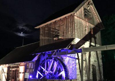 Gebäudeillumination – CDU Sommerfest in der Krabat-Mühle Schwarzkollm